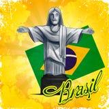 Brasil statua Ilustracja Wektor
