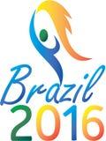 Brasil 2016 Summer Games Flaming Torch Royalty Free Stock Photos