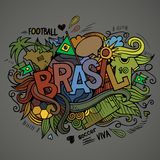 Brasil Summer Vector hand lettering Stock Photography