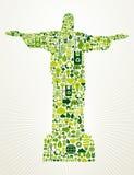 Brasil vai ilustração verde do conceito Foto de Stock Royalty Free