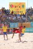 Brasil vs Portugal - Match Mundialito 2017 Carcavelos Portugal Stock Photo