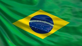 Brasil. Waving Brasilian flag. 3D illustration.  vector illustration