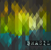 Brasil 2014 World soccer championship abstract background Stock Images