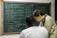 Brasil - San Paolo - The ONG Sermig - the school for african refugees. Brasile - San Paolo - The ONG Sermig -the school for african refugees. Sermig is a stock image