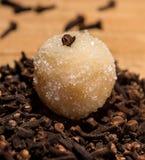 Beijinho um doce brasileiro, com ingrediente Imagens de Stock Royalty Free