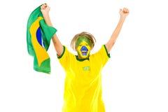 Brasileiro feliz foto de stock