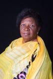 Brasilen@o africano mayor de la mujer fotografía de archivo