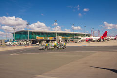 Brasilia, Brésil - 17 juin 2017 : Aéroport de Brasilia Internacional Images libres de droits