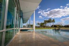 Alvorada Palace, official residence of President of Brazil - Brasilia, Distrito Federal, Brazil. Brasilia, Brasil - Aug 29, 2018: Alvorada Palace, official royalty free stock images