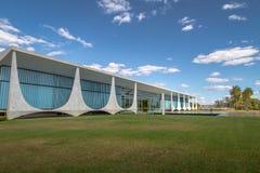 Alvorada Palace, official residence of President of Brazil - Brasilia, Distrito Federal, Brazil. Brasilia, Brasil - Aug 29, 2018: Alvorada Palace, official stock image