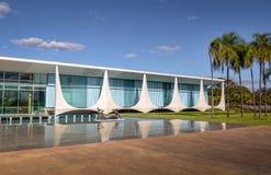 Alvorada Palace, official residence of President of Brazil - Brasilia, Distrito Federal, Brazil. Brasilia, Brasil - Aug 29, 2018: Alvorada Palace, official stock photo