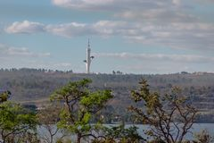 Digital Television Tower - Torre de TV Digital - Brasilia, Distrito Federal, Brazil. Brasilia, Brasil - Aug 29, 2018: Digital Television Tower - Torre de TV royalty free stock image