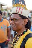 """Brasilia, Brazil-April 25th 2019: Thousands of Indigenous Indians descend upon the capital city of Brasilia. In a movement called """"Acampamento Terra royalty free stock images"""