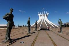 brasilia brazil domkyrka Fotografering för Bildbyråer