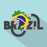 Brasilia The Capital City Of Brazil Typography Design Royalty Free Stock Photo
