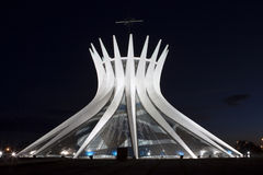 Brasilia Cathedral. The futuristic Cathedral of Brasilia with its bells Stock Photos
