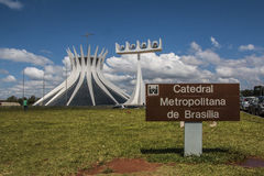 Brasilia Cathedral - Brasília - DF - Brazil Royalty Free Stock Photo