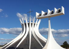 Brasilia cathedral Stock Photos