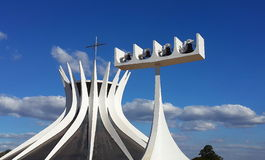 Brasilia cathedral. Cathedral of brasilia, christian church Stock Image