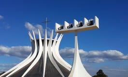 Brasilia cathedral Stock Image