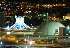 Brasilia entro la notte Fotografia Stock Libera da Diritti