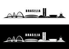 Brasilia horisont stock illustrationer