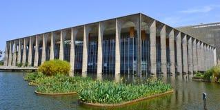 brasilia itamaraty slott Fotografering för Bildbyråer