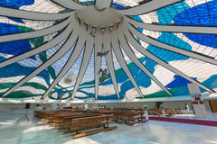 Brasilia Kathedraal - Brasília - DF - Brazilië stock foto's