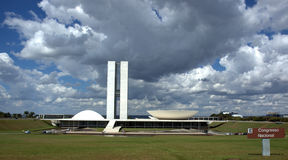brasilia kongress royaltyfria bilder
