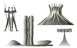 Brasilia landmarks Stock Image