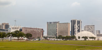 Brasilia Modern Buildings Royalty Free Stock Images