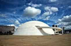 Brasilia muzeum narodowe republika obrazy stock