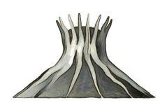 Brasilia punkt zwrotny - katedra Zdjęcia Royalty Free