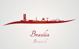 Brasilia skyline in red Stock Photos