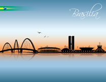 Brasilia skyline Stock Photography