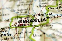 Brasilia sur la carte photos libres de droits