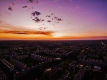 Brasilia tijdens zonsondergang Stock Afbeeldingen