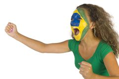 Brasilian fan Royalty Free Stock Images