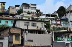 Brasilian Favela Arkivfoto