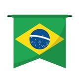Brasilian Flag Hanging Symbol Royalty Free Stock Photos
