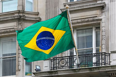 Brasilian flag Royalty Free Stock Image