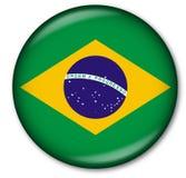 brasilian knappflagga Royaltyfri Foto