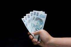 Brasilian real notes Stock Photo
