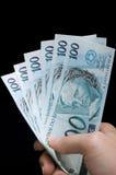 Brasilian real notes Stock Image