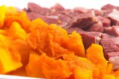Brasilianer Jaba COM Jerimum Gestoßenes Rindfleisch oder trocknet Treffung Kürbis Lizenzfreie Stockfotografie