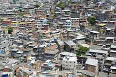 Brasilianische Abhang-Barackensiedlung Rio de Janeiro Brazil Favela Lizenzfreies Stockfoto