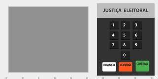 Brasilianische Abstimmungsurneillustration der elektronischen Maschine stock abbildung