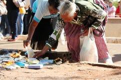 Brasilianische alte Frauen an der populären Pilgerfahrt Stockfotografie