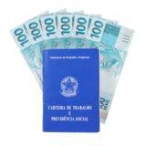 Brasilianische Dokumentenarbeit und Sozialversicherung Stockbild