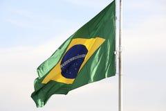 Brasilianische Flagge Stockfotografie